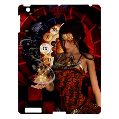Steampunk, Beautiful Steampunk Lady With Clocks And Gears Apple Ipad 3/4 Hardshell Case by FantasyWorld7