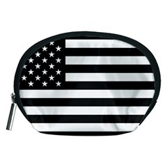 Flag Of Usa Black Accessory Pouches (medium)  by amphoto