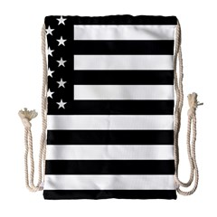 Flag Of Usa Black Drawstring Bag (large) by amphoto