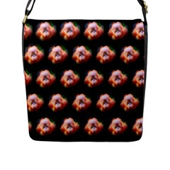Cute Animal Drops  Baby Orang Flap Messenger Bag (l)  by MoreColorsinLife