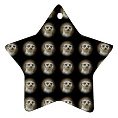 Cute Animal Drops   Meerkat Star Ornament (two Sides) by MoreColorsinLife