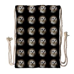 Cute Animal Drops   Meerkat Drawstring Bag (large)