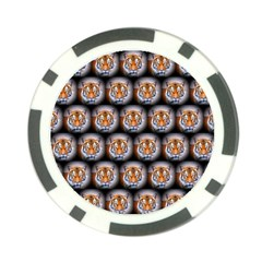 Cute Animal Drops   Tiger Poker Chip Card Guard (10 Pack) by MoreColorsinLife