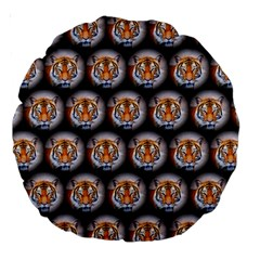 Cute Animal Drops   Tiger Large 18  Premium Round Cushions by MoreColorsinLife
