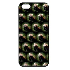 Cute Animal Drops   Red Panda Apple Iphone 5 Seamless Case (black) by MoreColorsinLife