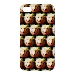 Cute Animal Drops   Wolf Apple Iphone 4/4s Hardshell Case