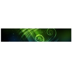 Abstract Blue Green Shiny  Flano Scarf (large) by amphoto