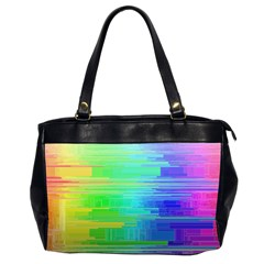 Colors Rainbow Pattern Office Handbags (2 Sides)  by paulaoliveiradesign