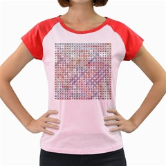 Solved Word Search Name Tag   100 Common Female Names Women s Cap Sleeve T Shirt by DownUnderSearcher