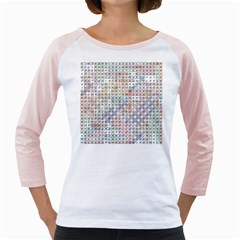 Solved Word Search Name Tag   100 Common Female Names Girly Raglan by DownUnderSearcher