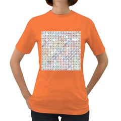 Solved Word Search Name Tag   100 Common Female Names Women s Dark T Shirt by DownUnderSearcher