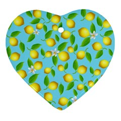 Lemon Pattern Ornament (heart)