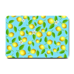 Lemon Pattern Small Doormat  by Valentinaart