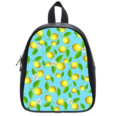 Lemon Pattern School Bag (small) by Valentinaart