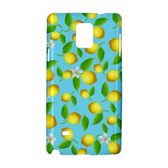 Lemon Pattern Samsung Galaxy Note 4 Hardshell Case by Valentinaart