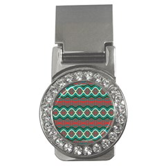 Ethnic Geometric Pattern Money Clips (cz)  by linceazul