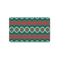 Ethnic Geometric Pattern Magnet (name Card) by linceazul