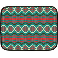 Ethnic Geometric Pattern Fleece Blanket (mini) by linceazul