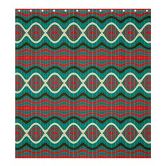 Ethnic Geometric Pattern Shower Curtain 66  X 72  (large)  by linceazul