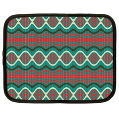 Ethnic Geometric Pattern Netbook Case (xl)  by linceazul