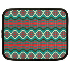 Ethnic Geometric Pattern Netbook Case (xxl)  by linceazul