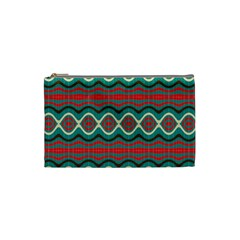 Ethnic Geometric Pattern Cosmetic Bag (small)  by linceazul