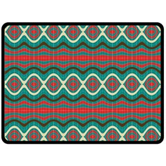 Ethnic Geometric Pattern Fleece Blanket (large)  by linceazul