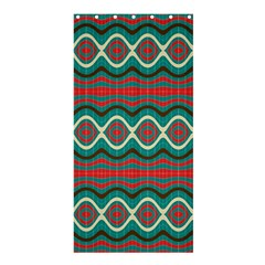 Ethnic Geometric Pattern Shower Curtain 36  X 72  (stall)  by linceazul