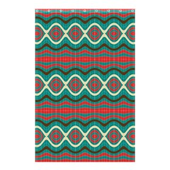 Ethnic Geometric Pattern Shower Curtain 48  X 72  (small)  by linceazul