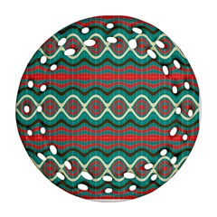 Ethnic Geometric Pattern Ornament (round Filigree) by linceazul