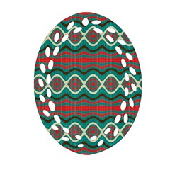 Ethnic Geometric Pattern Ornament (oval Filigree) by linceazul