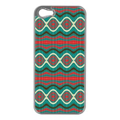 Ethnic Geometric Pattern Apple Iphone 5 Case (silver) by linceazul