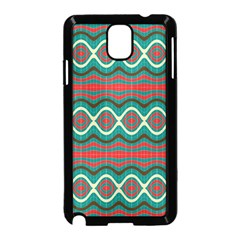 Ethnic Geometric Pattern Samsung Galaxy Note 3 Neo Hardshell Case (black) by linceazul