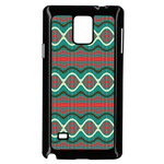 Ethnic Geometric Pattern Samsung Galaxy Note 4 Case (Black) Front