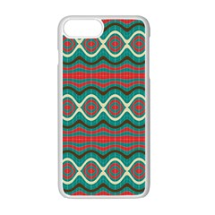 Ethnic Geometric Pattern Apple Iphone 7 Plus White Seamless Case by linceazul