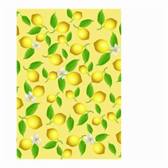Lemon Pattern Small Garden Flag (two Sides) by Valentinaart