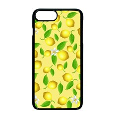 Lemon Pattern Apple Iphone 7 Plus Seamless Case (black) by Valentinaart