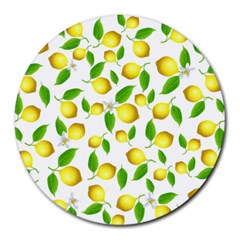 Lemon Pattern Round Mousepads