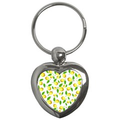 Lemon Pattern Key Chains (heart)  by Valentinaart