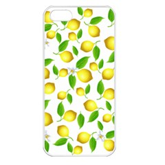 Lemon Pattern Apple Iphone 5 Seamless Case (white) by Valentinaart