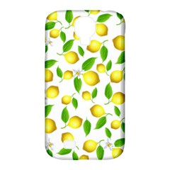 Lemon Pattern Samsung Galaxy S4 Classic Hardshell Case (pc+silicone) by Valentinaart