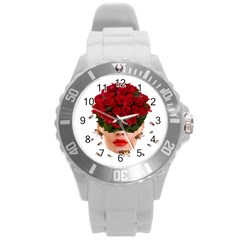Beautiful Life Round Plastic Sport Watch (l) by Valentinaart
