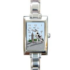Great Dane Rectangle Italian Charm Watch by Valentinaart
