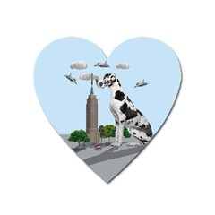 Great Dane Heart Magnet by Valentinaart