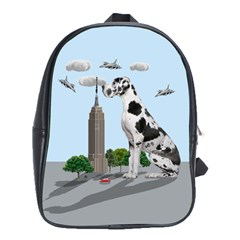 Great Dane School Bag (large) by Valentinaart