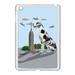 Great Dane Apple Ipad Mini Case (white) by Valentinaart