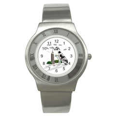 Great Dane Stainless Steel Watch by Valentinaart