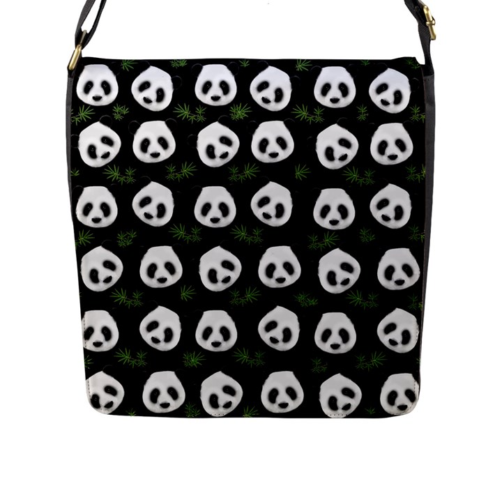 Panda pattern Flap Messenger Bag (L)