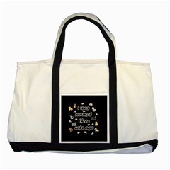 I Was Normal Three Cats Ago Two Tone Tote Bag