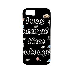 I Was Normal Three Cats Ago Apple Iphone 5 Classic Hardshell Case (pc+silicone)